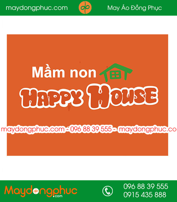May đồng phục trường mầm non Happy House